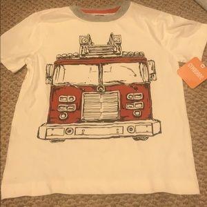 Boys fire truck shirt